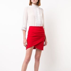 Alice & Olivia Red Fidela Mini Skirt ❤️